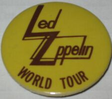 "Led Zeppelin World Tour Pin 1.75"" Original"