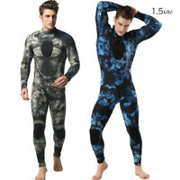 1.5mm Camo Diving Suit One Piece Freediving Spearfishing Underwater Wetsuit