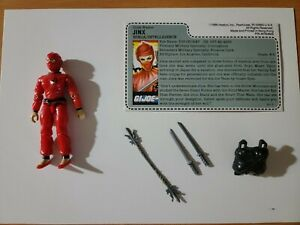 1987 GI Joe ARAH Ninja Intelligence JINX Mail Away - 100% Complete /w File Card!