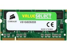 Corsair 1GB 1x1GB DDR1 333 MHz PC 2700 Laptop Memory New Sealed Free Shipping