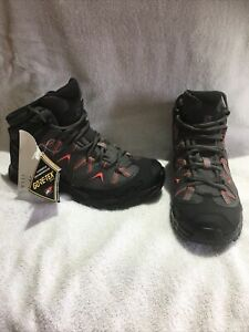 Salomon Bekken Mid Gtx Grey Walking Boots Gore Tex Size 6.5 (40) Unisex