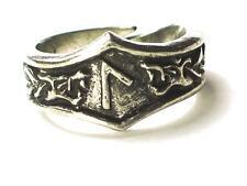 LAGUZ Viking Dragon Head Rune Ring, Psychic powers, Letter 'L'. Adjustable