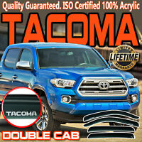 For 05-21 Toyota Tacoma Double Cab Crew Window Visors Vent Shade Sun Deflectors
