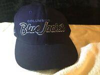 NHL Columbus Blue Jackets Vintage Authentic Zephyr Snapback Hat Cap Navy