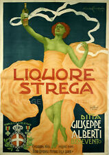 Italian Liquor 1906 Vintage Advertising Poster Giclee Canvas Print  30x42