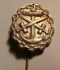 Original German WW 1 Stickpin -  Kriegsmarine Wound Badge