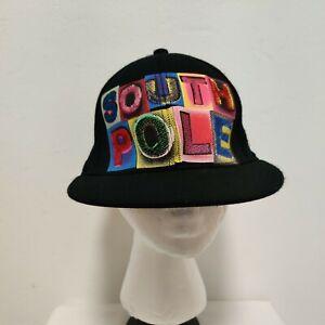 HIP HOP South Pole Men's Ball Cap Trucker Embroidered  Flat Brim Black Colorful