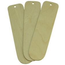 "Legno bianchi per pyrography 3 Birch Plywood 7.5 ""X 1,75"" BOOK Marks 1,5 mm di spessore"