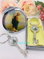 24 Baptism Favors 12 Mirrors and 12pcs Keychain Recuerdos De Bautizo Nina Niño