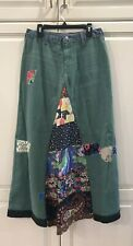 """NWT FREE PEOPLE SANDERSON PATCHED MAXI DENIM SKIRT 26-28"""" Waist RARE!!!"""