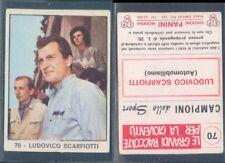 FIGURINA CAMPIONI DELLO SPORT PANINI 1966/67-LUDOVICO SCARFIOTTI-N.70