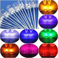 100X-1000X LED Round Lamp 5mm White Red Green Blue Amber Orange UV Diodes Light