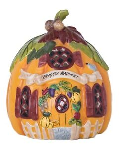 Blue Sky Clayworks H0 Thanksgiving Harvest 8in Pumpkin Candle House 17865 DEFECT