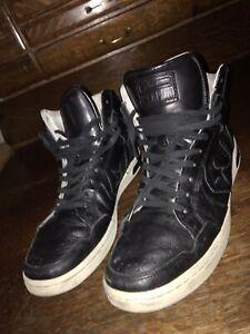 converse john varvatos weapon black leather high top sneakers SZ 10 US