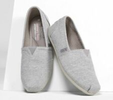 Skechers Women's BOBS Plush Express Yourself Casual Flats Shoe Slip On 8 Gray