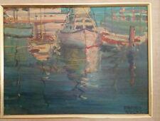 Edmond Woods Lovely Coastal, Calfornia Scene. Student of Maurice Braun. 2 sides