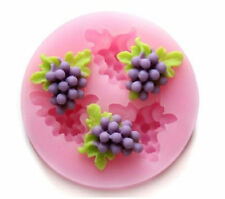 Grapes 3 Cavity Mini Silicone Mold for Fondant, Gum Paste, Chocolate