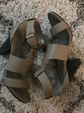 Me Too Dixie Heel Sandals in Stone Size 9.5M