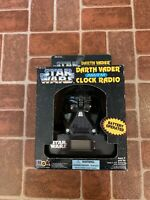 Star Wars Darth Vader AM/FM CLOCK RADIO  Battery Op 1995 NEW FREE SHIPPING