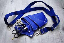 Blue Barbero Salón Peluquería Tijera Y Peine/Funda Bolsa/Bolso de la cintura