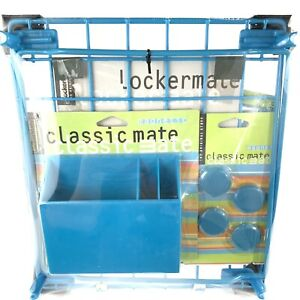 Lockermate Classic Mate Locker Kit Shelf Mirror Box Aqua Blue Nos