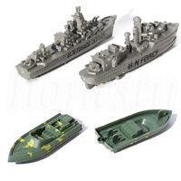 1/2PCS Plastic Military Ship Vehicles Model Cruiser Rubber Boat Kids Toy Gift