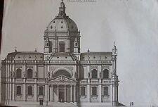 JEAN MAROT (1619-1679): L'eglise de Sorbonne batie par la magnificence et par la