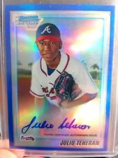 2010 Bowman Chrome Julio Teheran Blue Ref Auto /150
