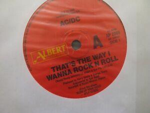 """AC/DC LP Vinyl  45 TOURS 7"""" 45 RPM KISSIN DYNAMITE  ALBERT PRODUCTIONS AP 2069"""