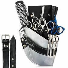 Hairdressing Scissor Pouch Kassaki Tool Belt Waist Bag Silver