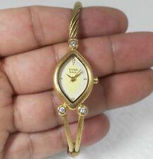 Titan Raga Quartz India Made Designer Cream Dial Gold Plated Kada Ladies Watch