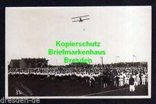 116551 AK Chemnitz Fotokarte Flugtag Flugzug über Menschenmassen 1920er Jahre
