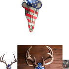 """Do-All Outdoors ABAM5 American Iron Buck Antler Mount, Red/White/Blue, 15.75""""..."""
