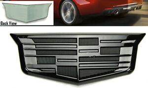 Black Out Rear Trunk Lid Crest Emblem Badge for Cadillac ATS XTS CTS 2015-2018