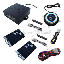Passive Keyless Entry PKE Car Alarm Push Button & Remote Start for DC 12V Cars
