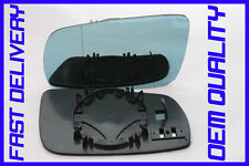 SKODA SUPERB ELEGANCE 2001-2006 DOOR WING MIRROR GLASS BLUE TINTED BLIND SPOT L