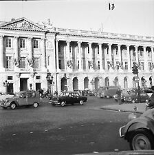 PARIS c. 1960 - Autos Circulation Place de la Concorde - Négatif 6 x 6 - N6 P94