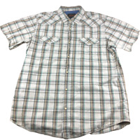 Northwest Territory Plaid, Short Sleeve, Snap Button Collared Shirt, Size XLT