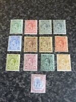 ST VINCENT POSTAGE REVENUE STAMPS SG108-118 INC 110A & 112A MOUNTED MINT