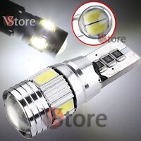 2 Veilleuses LED T10 ampoules 6 smd 5630 HID Canbus 5W BLANC ANTI ERREUR Lampe