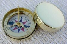 "Compass Sundial pocket compass  1.5"" 18th century Repro"