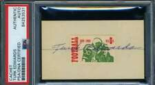 Turk Edwards PSA DNA Coa Hand Signed 1969 Football Stamp Display Autograph