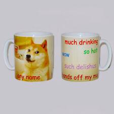 Doge Shibe Internet Meme Mug PERSONALISED Funny Dog Animal Lover Coffee Cup Gift