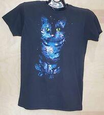 Galaxy Cat Hybrid Apparel Graphic T Shirt Womens Medium Tee Shirt