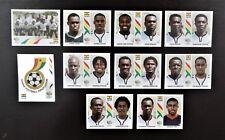 Panini Fifa World Cup Germany 2006 completo de equipo Ghana + Placa De Aluminio