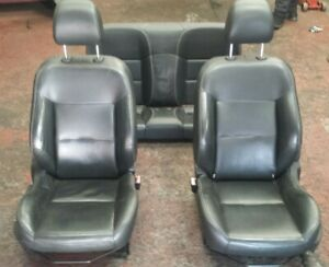 PEUGEOT 207 CC BLACK LEATHER FRONT AND REAR INTERIOR SEATS