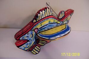 Collectable Flying Bass Fish Decoy New design by JCAS Folk Artist just created