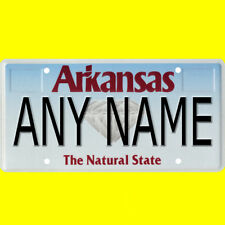 1/43-1/5 scale custom license plate set any brand RC/model car - Arkansas tags