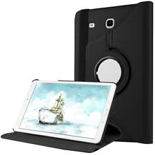 360 Rotating Swivel Leather Case Cover For Samsung Galaxy Tab E 8.0 Tablet Black