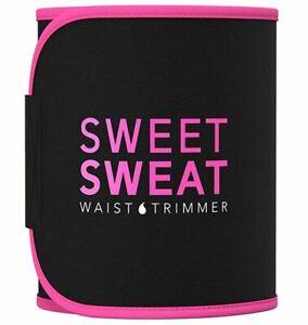 Sweet Sweat Premium Waist Trimmer - Pink/Black - Medium - Women